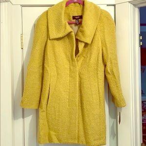 Alfani lime green wool coat